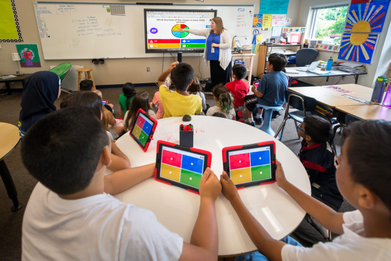 Technology In Elementary Classrooms : New student engagement method the two tiered technology approach