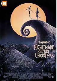 Jack Skellington Christmas town night before Xmas Holiday Classic movie