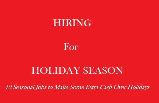extra ways to earn money during Holidays