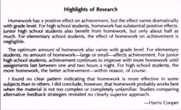 Effects of homework on students