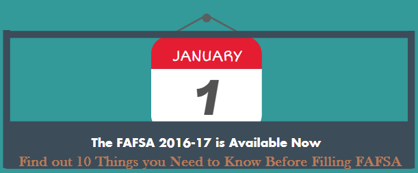 Fill FAFSA Things to Know