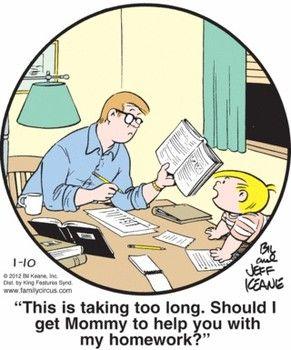 homework students parents cartoons
