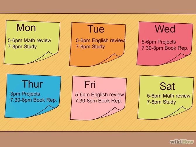homework parents schedule plannar
