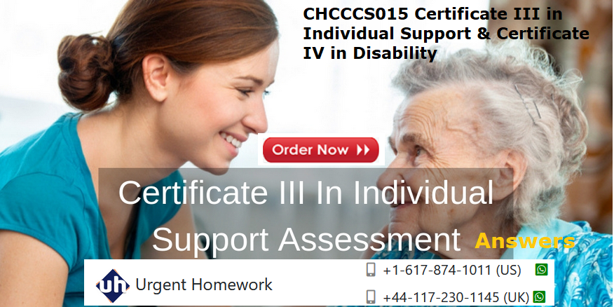 Certificate III In Individual Support Assessment Answers