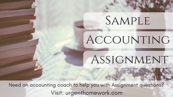 accounting sample assignment