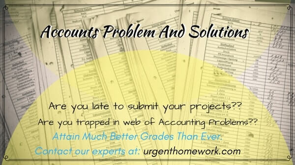 Accounts Problem And Solutions