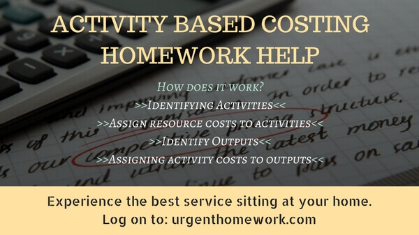 Activity based Costing Homework Help