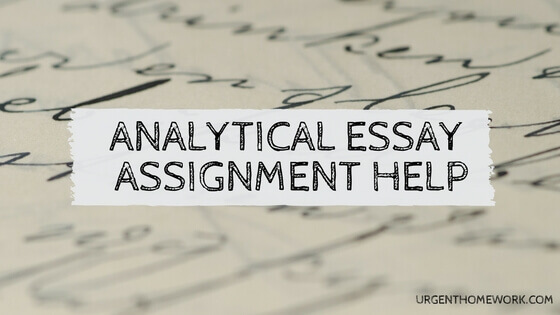 Analytical essay Assignment Help