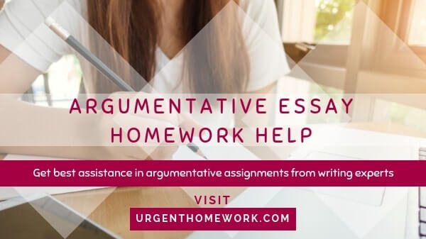 Help writing argumentative essay
