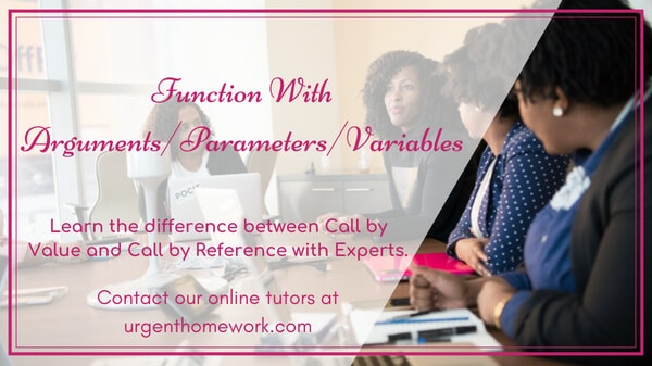 Assignment Help With Function Calls