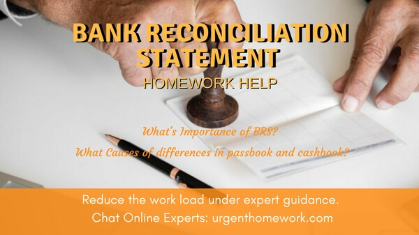 Bank Reconciliation Statement Homework Help
