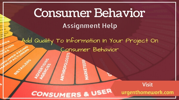 consumer behavior homework help
