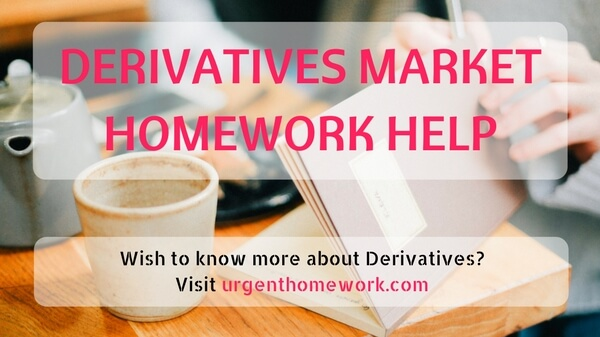 Derivatives Market Homework Help