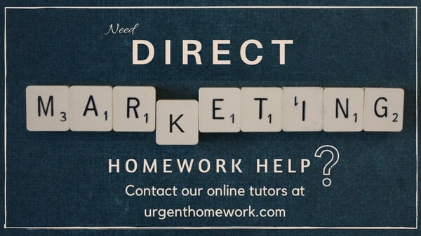Direct Marketing Homework Help