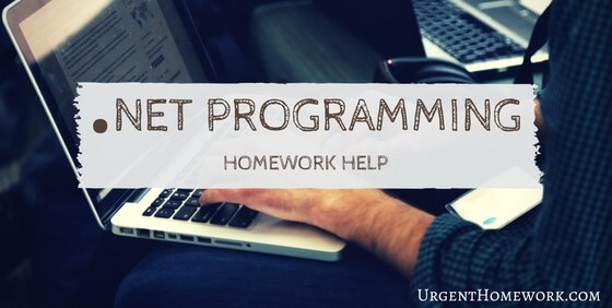 .Net Programming Homework Help