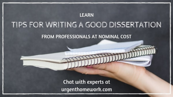 how to write a good dissertation