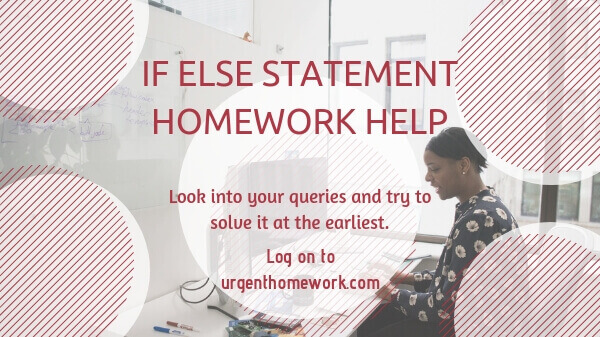If else statement Homework Help