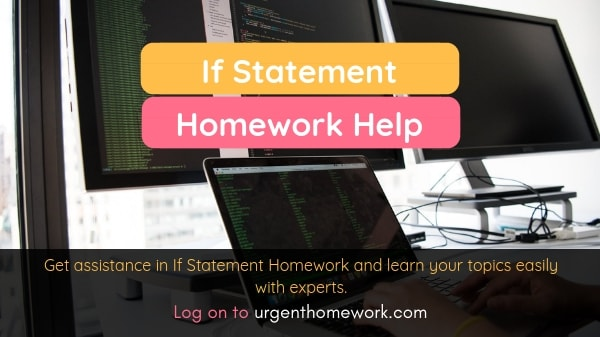 If Statement Homework Help