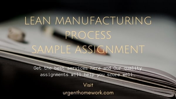 Lean Manufacturing Process Sample Assignment