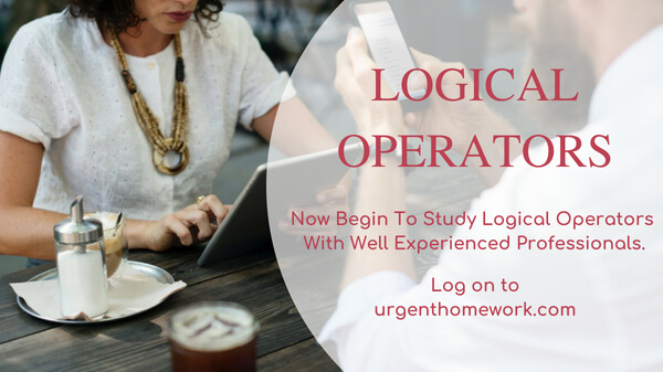 Logical Operators Homework Help