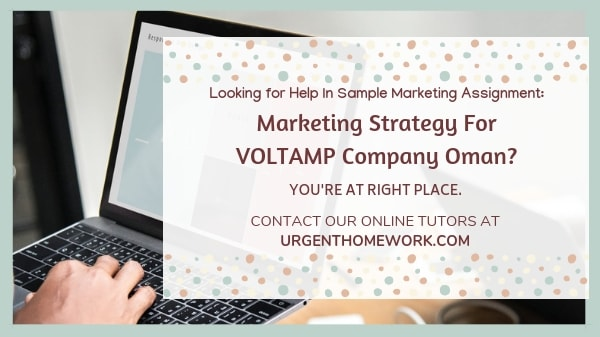 Marketing strategy for VOLTAMP Company Oman