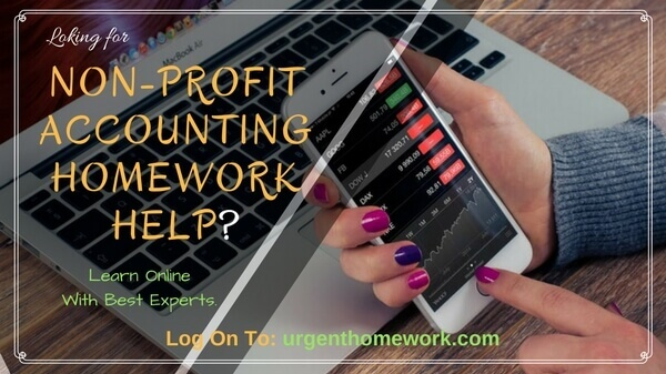Non-profit Accounting Homework Help