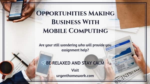 Opportunities making business with mobile computing