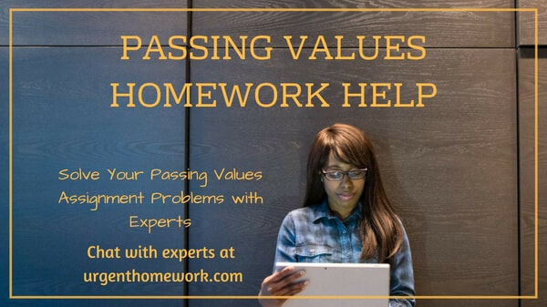 Passing Values Homework Help