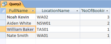 query in database