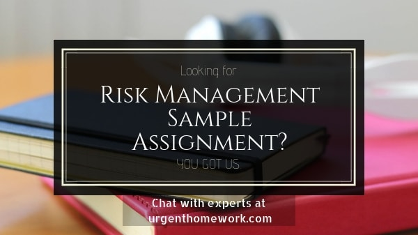 Sample Assignment on Risk Management