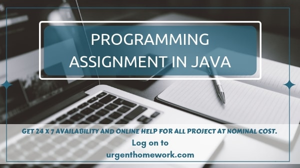 Sample Programming Assignment in Java