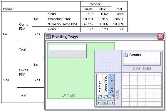 SPSS - Pivoting Tables