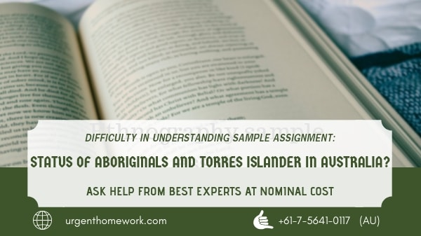 Status of Aboriginals and Torres Islander in Australia