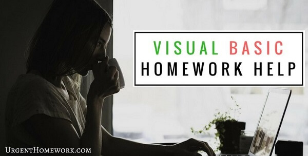 Visual Basic Homework Help